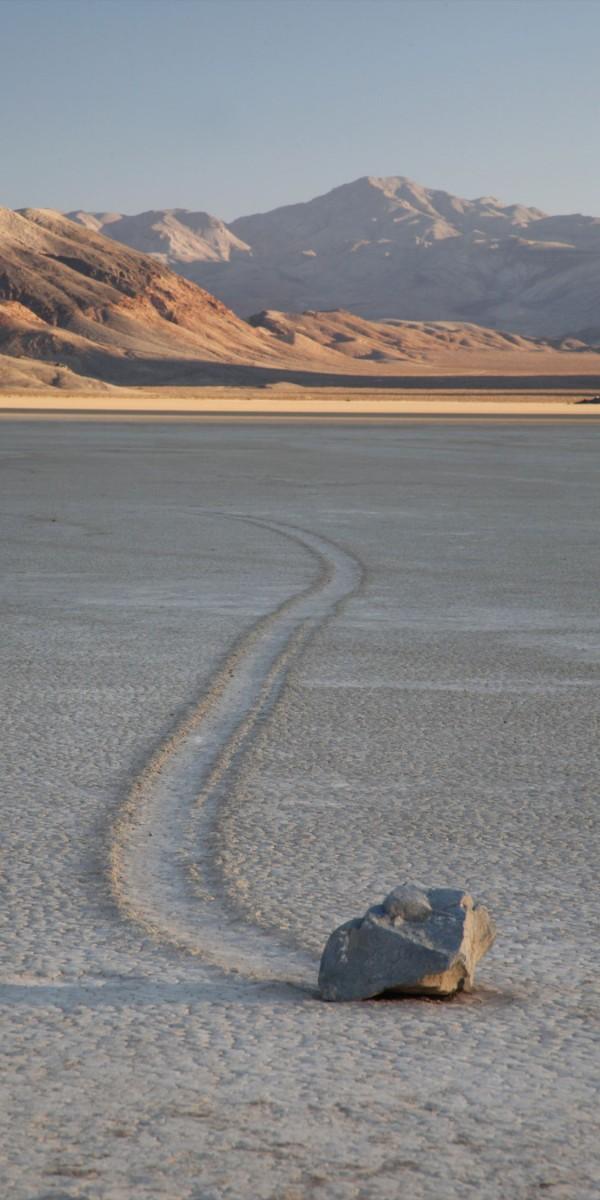 デスバレー動く石 レーストラック
